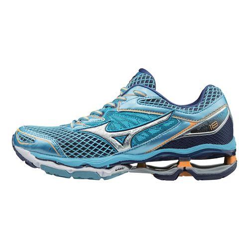 Womens Mizuno Wave Creation 18 Running Shoe - Light Blue/Silver 7