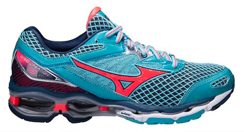 Womens Mizuno Wave Creation 18 Running Shoe - Blue/Pink 7