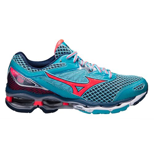 Womens Mizuno Wave Creation 18 Running Shoe - Blue/Pink 7.5