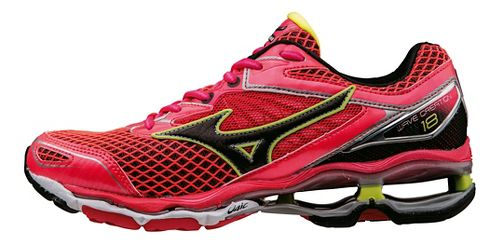 Womens Mizuno Wave Creation 18 Running Shoe - Pink/Black/Yellow 6