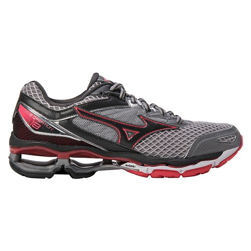 Womens Mizuno Wave Creation 18 Running Shoe - Grey/Pink 6.5