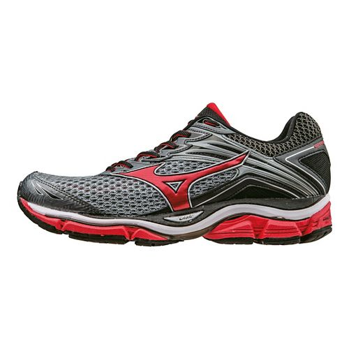 Mens Mizuno Wave Enigma 6 Running Shoe - Grey/Red 10