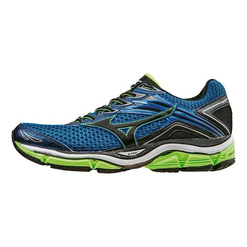 Mens Mizuno Wave Enigma 6 Running Shoe - Blue/Green 11.5