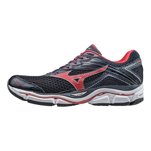 Mens Mizuno Wave Enigma 6 Running Shoe - Dress Blue/Red 10.5