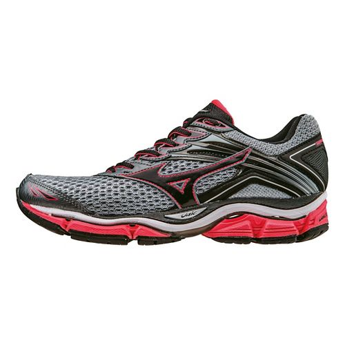Womens Mizuno Wave Enigma 6 Running Shoe - Grey/Pink 10