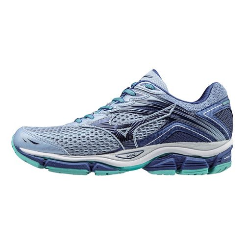Womens Mizuno Wave Enigma 6 Running Shoe - Light Blue/Turquoise 9
