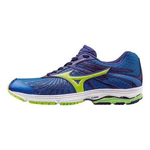 Mens Mizuno Wave Sayonara 4 Running Shoe - Sky Blue/Green Flash 12.5