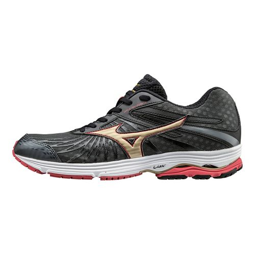 Mens Mizuno Wave Sayonara 4 Running Shoe - Dark Grey/Red 12.5