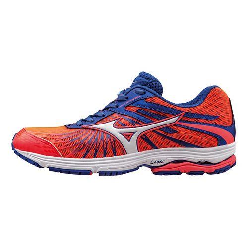 Womens Mizuno Wave Sayonara 4 Running Shoe - Coral/Blue/White 8