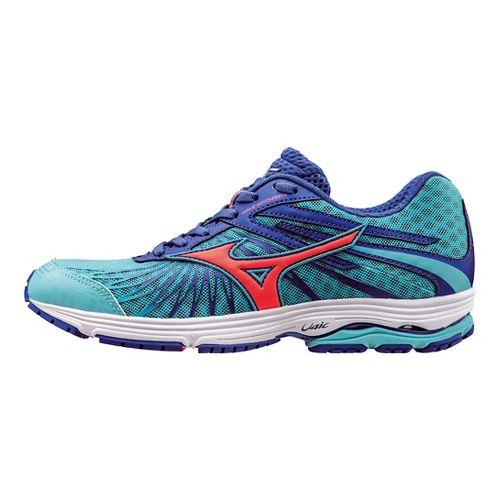 Womens Mizuno Wave Sayonara 4 Running Shoe - Capri/Coral/Blue 8.5