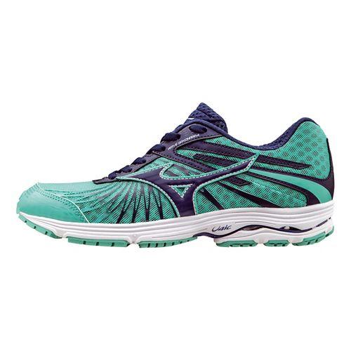 Womens Mizuno Wave Sayonara 4 Running Shoe - Mint/Navy 10.5