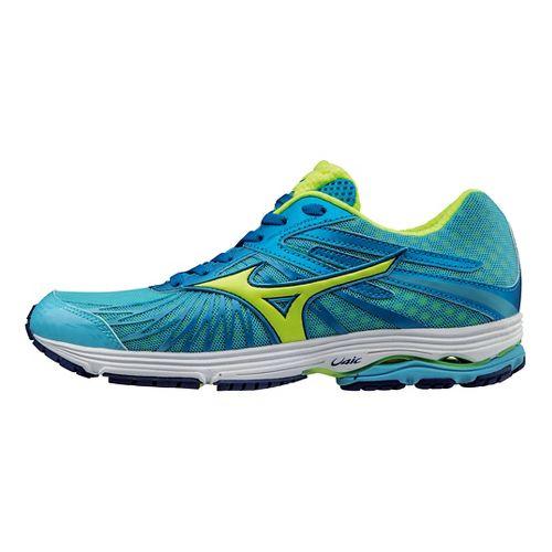 Womens Mizuno Wave Sayonara 4 Running Shoe - Blue/Safety Yellow 8.5