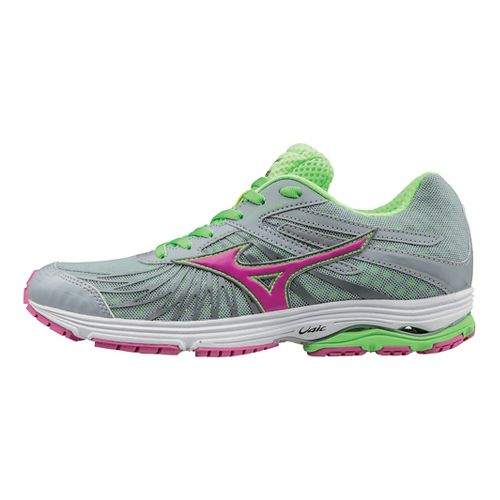 Womens Mizuno Wave Sayonara 4 Running Shoe - Grey/Green 8.5