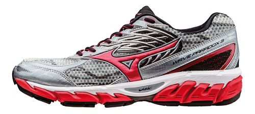 Mens Mizuno Wave Paradox 3 Running Shoe - Grey/Red 16