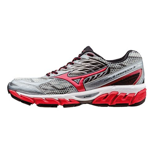 Mens Mizuno Wave Paradox 3 Running Shoe - Grey/Red 11.5