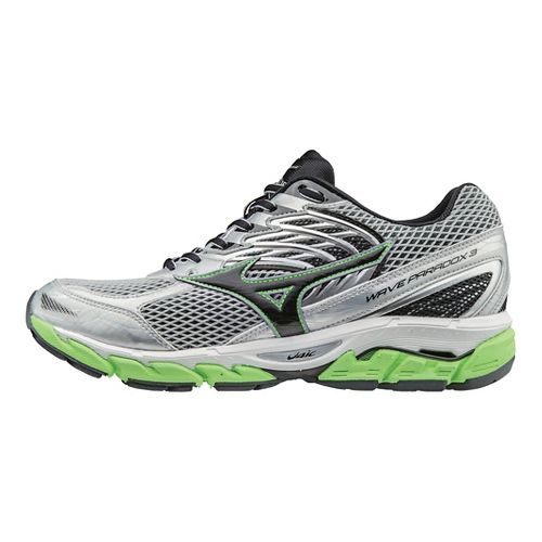 Mens Mizuno Wave Paradox 3 Running Shoe - Grey/Green Gecko 9