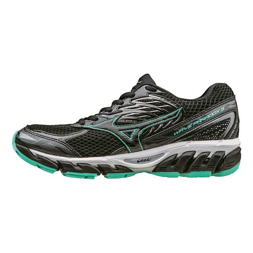 Womens Mizuno Wave Paradox 3 Running Shoe - Black/Mint 11.5