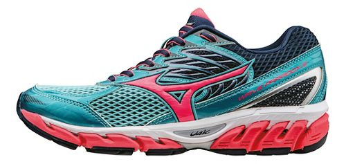 Womens Mizuno Wave Paradox 3 Running Shoe - Capri/Pink 7