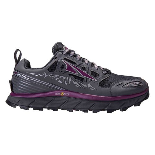Womens Altra Lone Peak 3.0 Trail Running Shoe - Grey/Purple 11