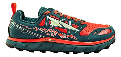 Womens Altra Lone Peak 3.0 Trail Running Shoe - Red/Deep Sea 10