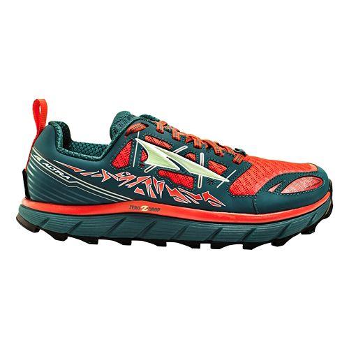Womens Altra Lone Peak 3.0 Trail Running Shoe - Red/Deep Sea 9