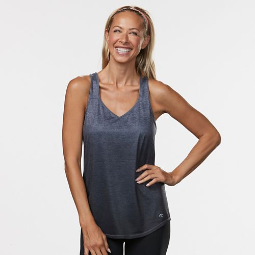 Womens Road Runner Sports Shades of Grey Ombre Sleeveless & Tank Technical Tops - Grey Mist L