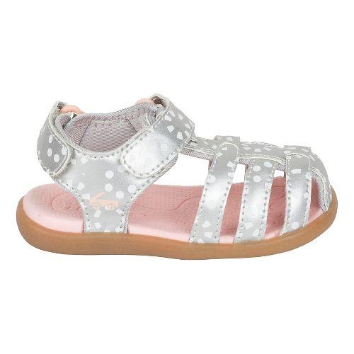 Girls See Kai Run Paley Sandals Shoe - Silver/White 9C