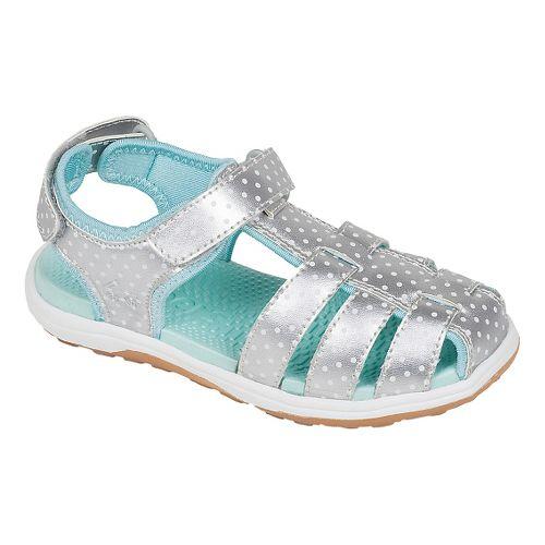 Kids See Kai Run Hartford Sandals Shoe - Silver 12.5C