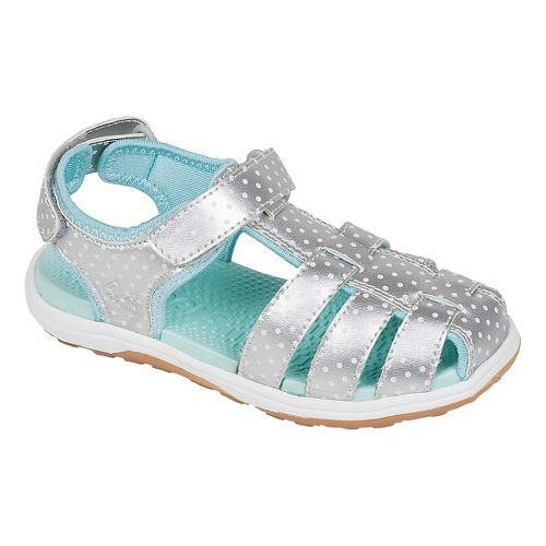 Kids See Kai Run Hartford Sandals Shoe - Silver 9.5C