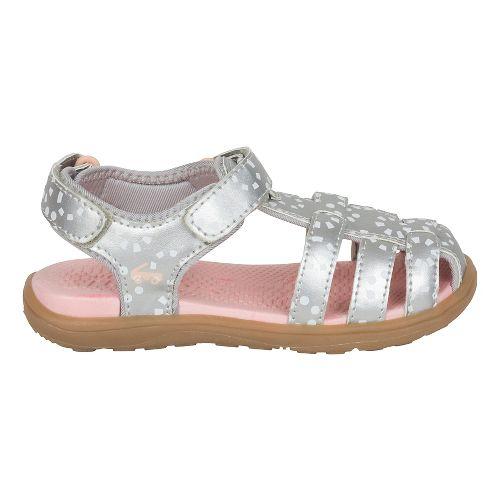 Girls See Kai Run Paley Sandals Shoe - Silver/White 13C