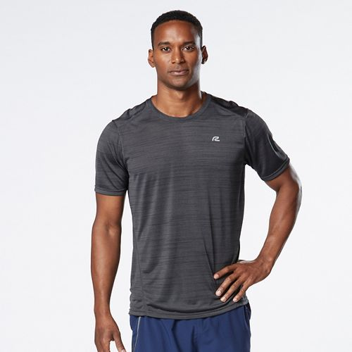 Mens R-Gear Runner's High Printed Short Sleeve Technical Tops - Steel L