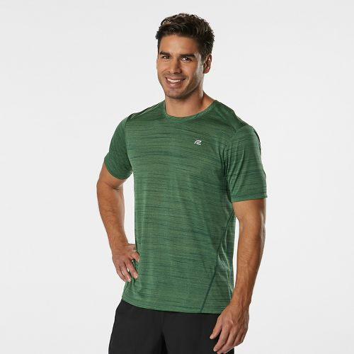 Mens Road Runner Sports Runner's High Printed Short Sleeve Technical Tops - Deep Teal M ...