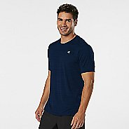 Mens R-Gear Runner's High Printed Short Sleeve Technical Tops - Cobalt L