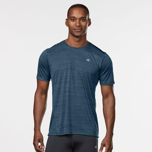Mens Road Runner Sports Runner's High Printed Short Sleeve Technical Tops - Pilot Blue/Black M ...