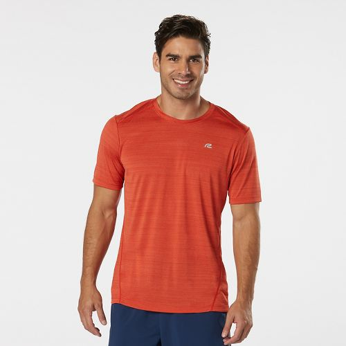Mens R-Gear Runner's High Printed Short Sleeve Technical Tops - Blaze S