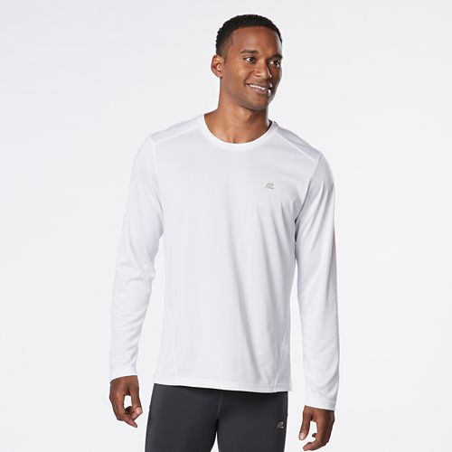 Mens R-Gear Runner's High Printed Long Sleeve Technical Tops - White XXL