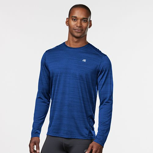 Mens R-Gear Runner's High Printed Long Sleeve Technical Tops - Cobalt L