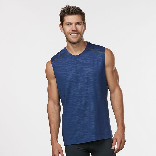 Mens Road Runner Sports Your Unbeatable Sleeveless & Tank Technical Tops - Midnight Blue L ...