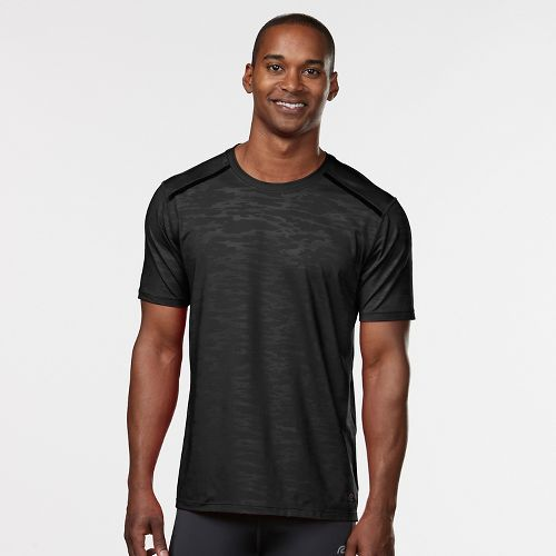 Mens Road Runner Sports Your Unbeatable Short Sleeve Technical Tops - Black S