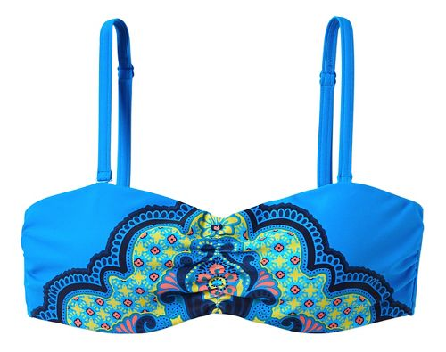 Womens Prana Cosima Top Swim - Vivid Blue Jasmine M