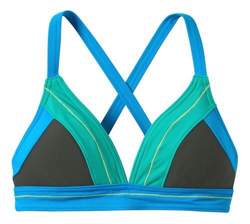 Womens Prana Atla Top Swim - Pewter XL