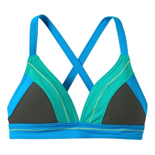 Womens Prana Atla Top Swim - Pewter XS