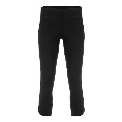 Womens Tasc Performance Bayou Booty 7/8 Tights & Leggings Pants - Black/Gunmetal XS