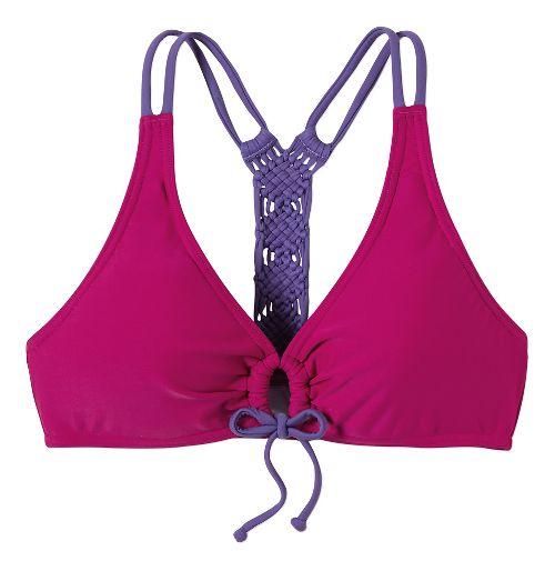Womens Prana Inez Top Swim - Rich Fuchsia L