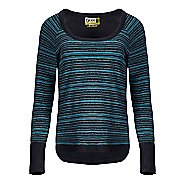 Womens Tasc Performance Bywater High-Low Sweatshirt Print Long Sleeve Technical Tops