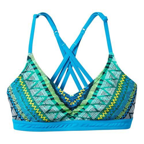 Womens Prana Cyra Top Swim - Vivid Blue Panama XL