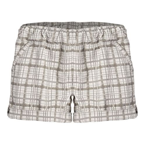 Womens Tasc Performance Endorphin Quick Dry Unlined Shorts - Greystone/Plaid L