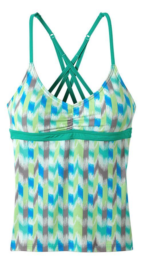 Womens Prana Cyra Tankini Swim - Cool Green Ikat XS