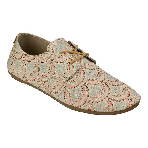 Womens Sanuk Bianca Prints Casual Shoe - Ivory Sunrise 8