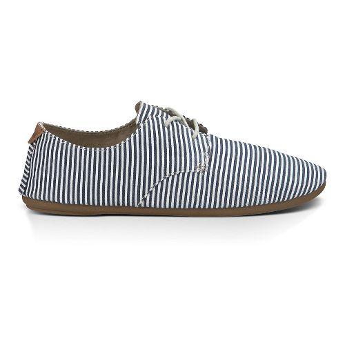 Womens Sanuk Bianca Prints Casual Shoe - Blue/White Stripe 8.5